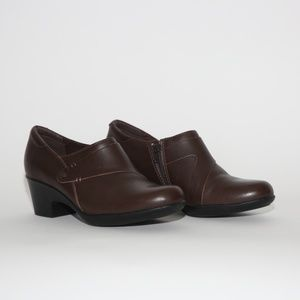 Clarks Collection Soft Cushion Brown Clog